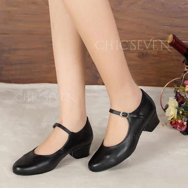 Women's Character Shoes Heels Sandals Pumps Real Leather Practice