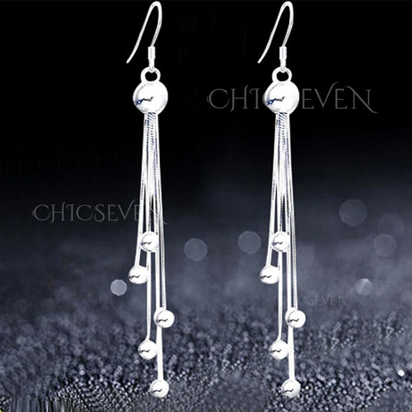 Unique Silver Copper Ladies' Fashion Earrings