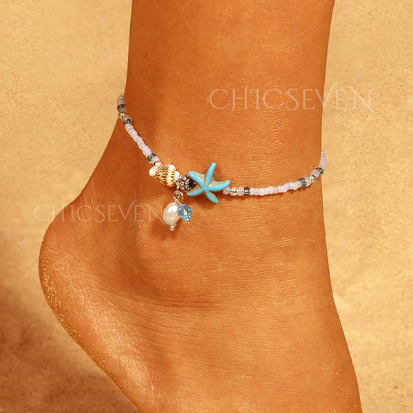 Exquisite Alloy Resin Anklets