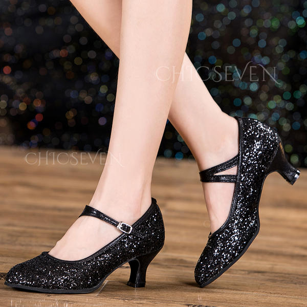 Women's Character Shoes Sparkling Glitter Latin