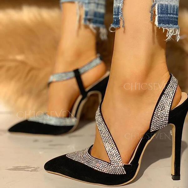 Women's PU Stiletto Heel Pumps Pointed Toe shoes