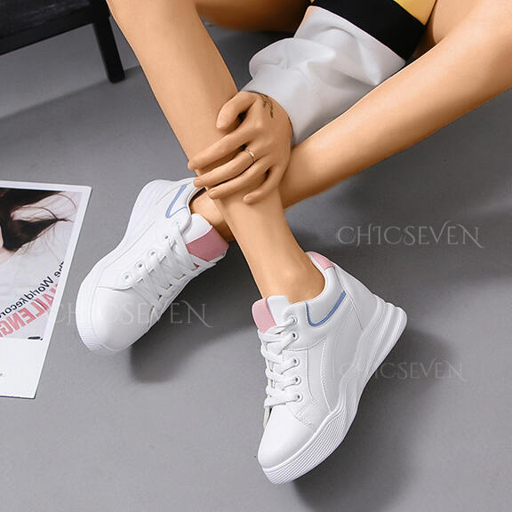 Women's PU Casual Outdoor Athletic With Elastic Band shoes