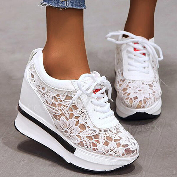 Women's PU Others Flats Round Toe With Hollow-out Flower Solid Color shoes