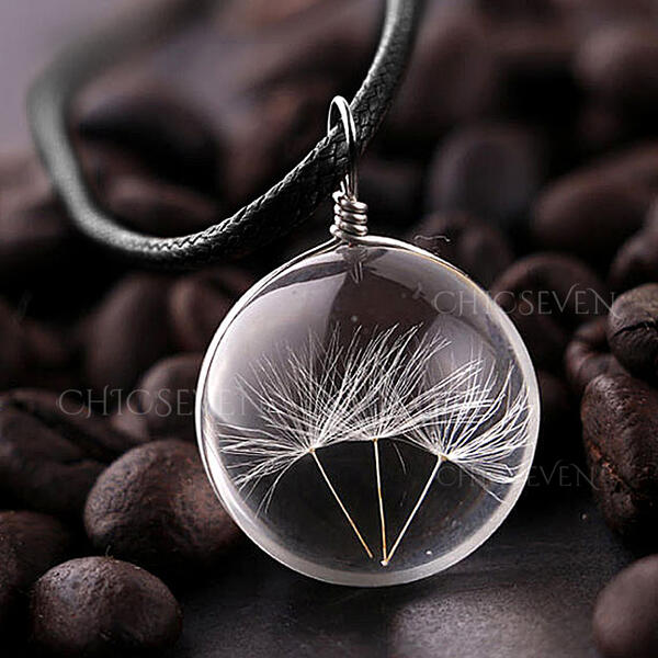 Chic Glass Unisex Necklaces