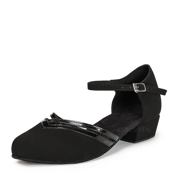 Women's Ballroom Flats Patent Leather Suede With Ankle Strap Modern