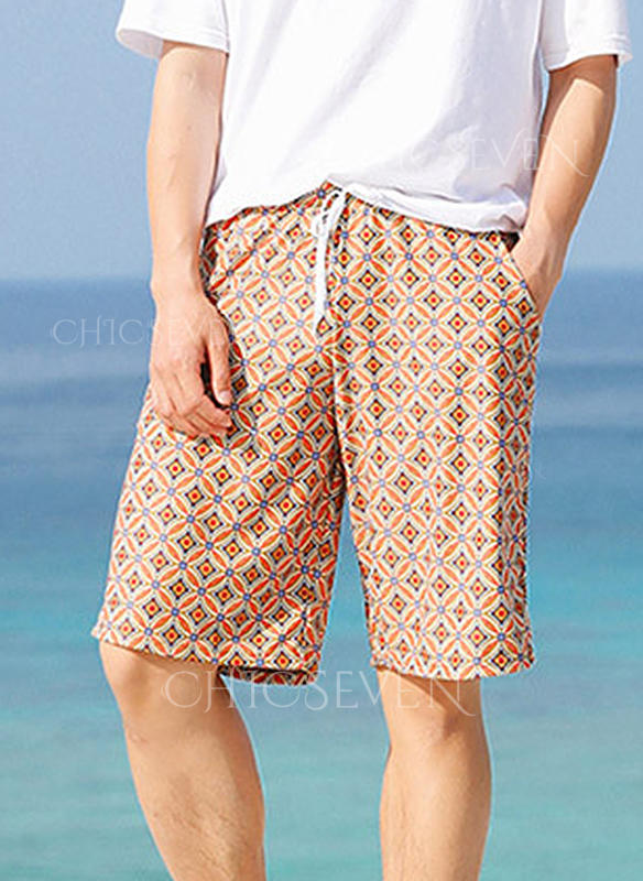 Men's Grid Lined Board Shorts