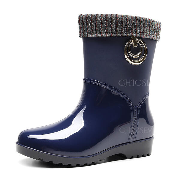 Rubber Low Heel Rain Boots shoes
