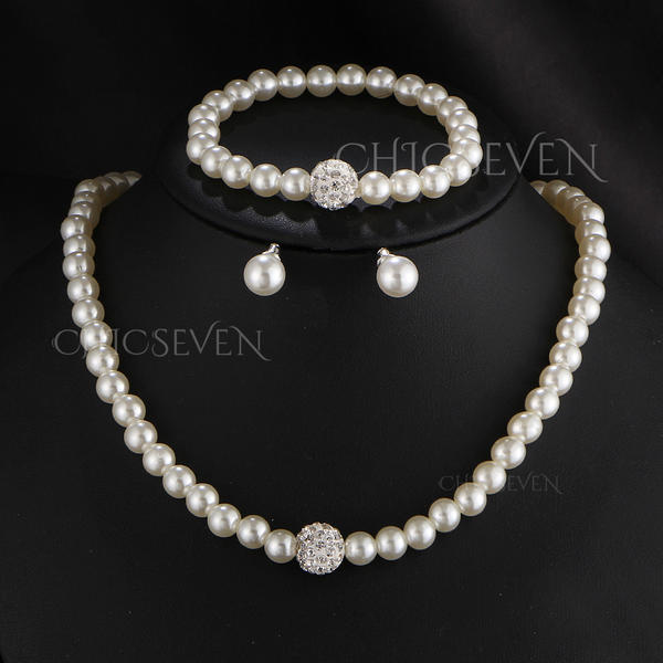 Nice Imitation Pearls With Imitation Pearl Ladies' Jewelry Sets