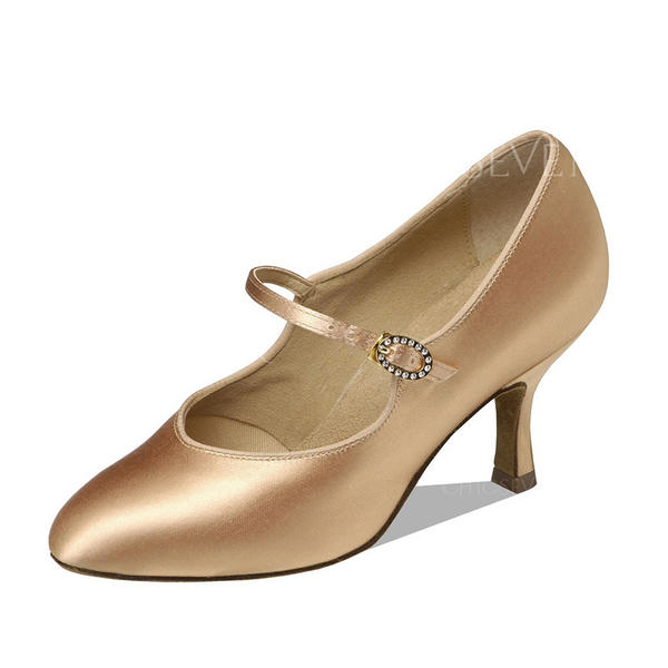 Women's Ballroom Heels Pumps Satin Modern