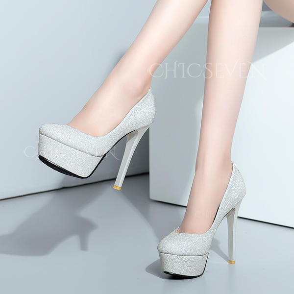 Women's PU Stiletto Heel Pumps Platform With Others shoes