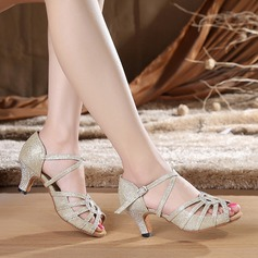 Women's Latin Heels Sandals Lace With Ankle Strap Latin