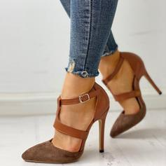 Women's PU Stiletto Heel Pumps With Buckle shoes