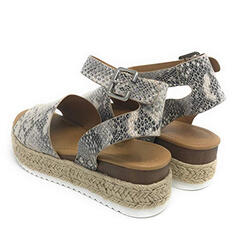 Women's PU Wedge Heel Sandals Wedges With Animal Print shoes