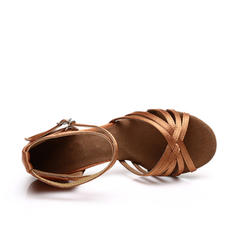 Women's Latin Sandals Satin With Ankle Strap Latin