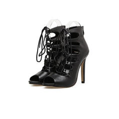 Women's Leatherette Stiletto Heel Pumps With Lace-up shoes