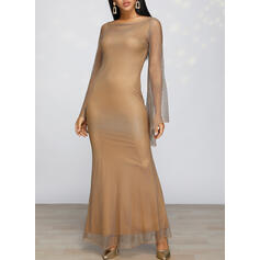 Sequins Long Sleeves Sheath Party/Elegant Maxi Dresses