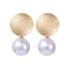 Beautiful Alloy Imitation Pearls Women's Earrings (Sold in a single piece)