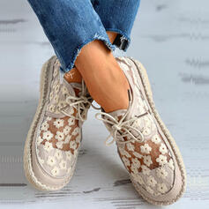 Women's Lace Flat Heel Flats With Lace-up Hollow-out shoes