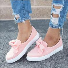 Women's Suede Flat Heel Flats With Bowknot Solid Color shoes