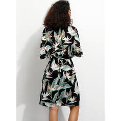 Print/Floral 1/2 Sleeves A-line Knee Length Casual/Boho/Vacation Dresses