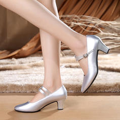 Women's Character Shoes Heels Pumps Real Leather Ballroom