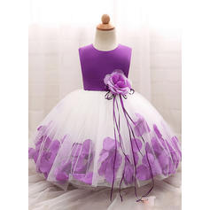 Girls Round Neck Floral Cute Party Dress