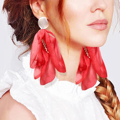 Exotic Cloth With Imitation Pearl Women's Earrings