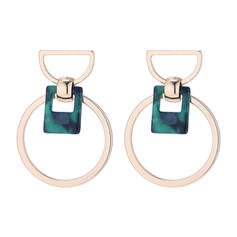 Simple Alloy Acrylic Women's Earrings