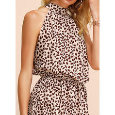 Print Sleeveless A-line Above Knee Casual/Party Dresses