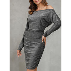 Solid Long Sleeves Bodycon Pencil Party/Elegant Midi Dresses