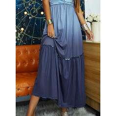 Gradient Sleeveless A-line Slip/Skater Casual/Vacation Maxi Dresses