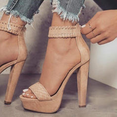 Women's Leatherette Chunky Heel Sandals Pumps Platform Peep Toe With Others shoes