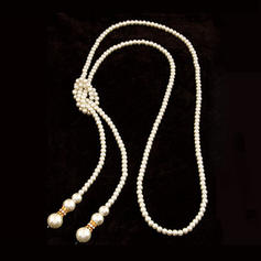 Gorgeous Alloy With Imitation Pearl Rhinestone Ladies' Necklaces