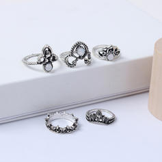Fashionable Alloy Acrylic With Acrylic Women's Fashion Rings (Set of 5)