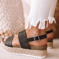 Women's PU Flat Heel Platform With Others shoes
