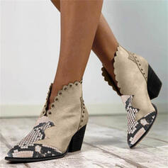 Women's PU Chunky Heel Pointed Toe With Rivet shoes