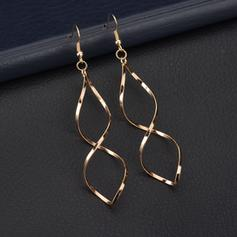 Simple Alliage Dames Boucles d'oreilles