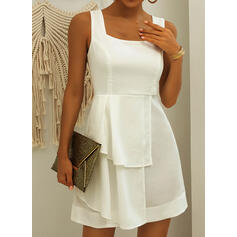 Solid Sleeveless A-line Above Knee Little Black/Sexy/Casual/Vacation Dresses