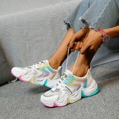 Women's Patent Leather PU Casual Outdoor With Lace-up shoes