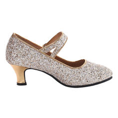 Women's Character Shoes Pumps Sparkling Glitter With Ankle Strap Character Shoes