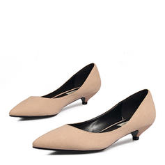 Women's Suede Low Heel Pumps Closed Toe With Others shoes