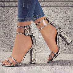 Women's Leatherette Stiletto Heel Sandals Peep Toe shoes