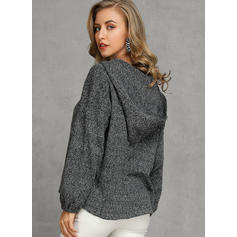 Solid Hooded Sweaters