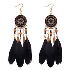 Unique Alliage Feather Femmes Boucles d'oreilles