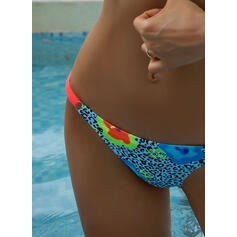 Floral Triangle Print Strap Sexy Colorful Bikinis Swimsuits