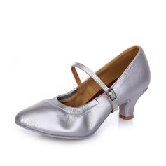 Women's Character Shoes Heels Leatherette With Buckle Latin