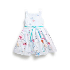 Girls Spaghetti Strap Floral Print Casual Dress
