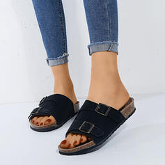 Women's Leatherette Flat Heel Sandals Flats Slingbacks Slippers With Buckle shoes
