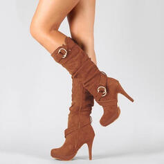Women's Suede Pumps Boots With Zipper shoes