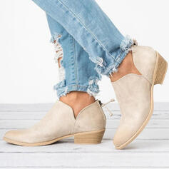 Women's Fabric Low Heel Flats Boots With Others shoes